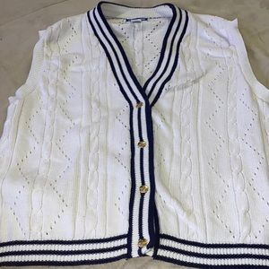 Pendleton Nautical Sweater Vest GUC XL Classic